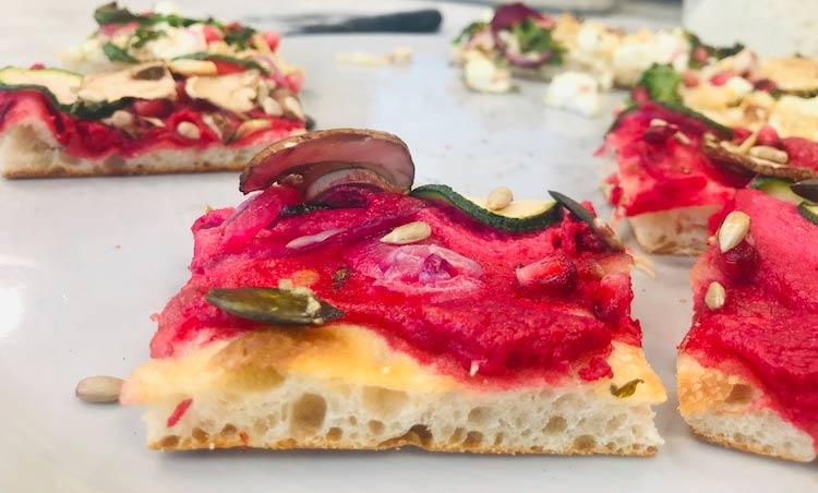 Beetroot Pizza al Taglio