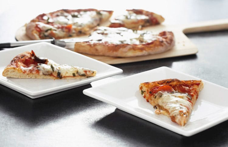 Italian Pizza Margherita slices