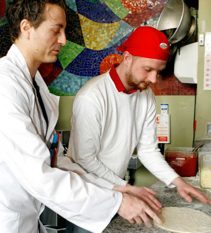 Pizza al taglio teacher and student