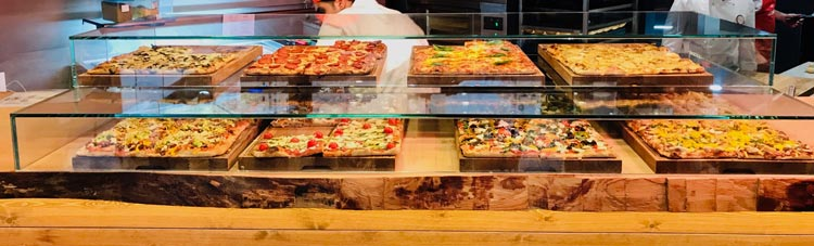 Roman Pizza al Taglio Display