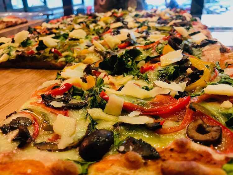 Vegetarian Pizza al Taglio